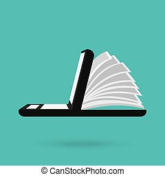 electronic book design - electronic book design, vector...