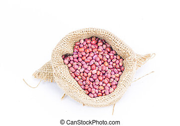 Beans - red isolated on white