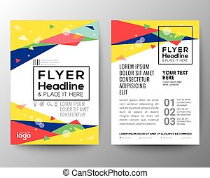 Abstract 80's style Triangle shape Poster Brochure Flyer...
