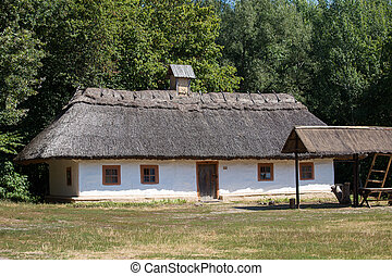 Wooden home Kiev, Ukraine - Wooden houses taken in park in...