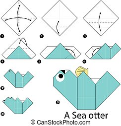 origami A Sea Otter - step by step instructions how to make...