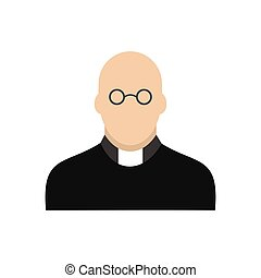 Priest icon flat - Priest icon in flat style isolated on...