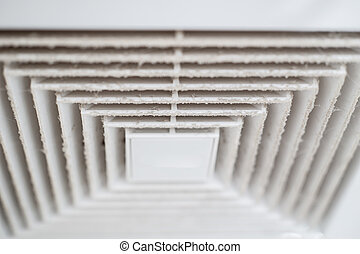 Dust out from Air Duct, Danger and the cause of pneumonia in...