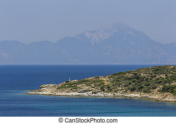 Greece Chalkidiki Sithonia Aegean Sea - General view over...