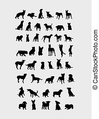 dogs.eps - Dog Collection Silhouettes, art vector design