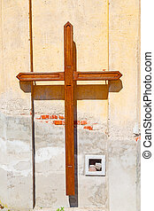 wall abstract sacred background - wall abstract cross in...