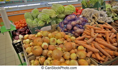 vegetables in the shop lemons cabbage carrot salad Pumpkin...