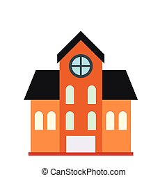 House with a mansard icon