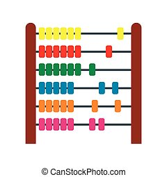 Colorful children abacus icon