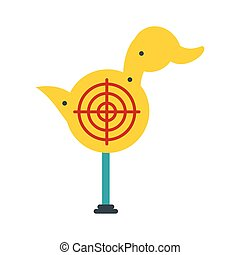 Yellow duck target icon