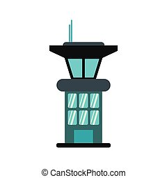 Airport control tower icon