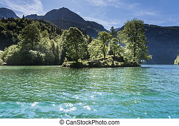 Baviera lake - Berchtesgaden,germany-May 11,2015:landscape...