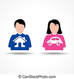 Male Female thinking for home & car