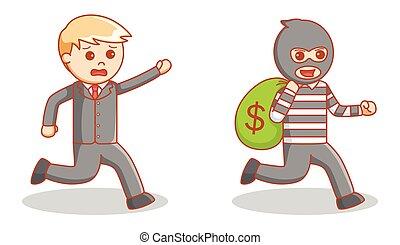 money bag thief