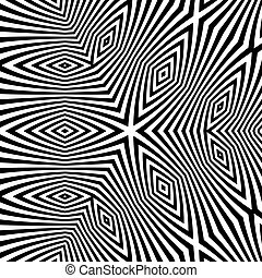 Black and White Abstract Striped Background - Black and...