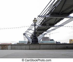 Millennium bridge - Millennium bridge across the Thames...