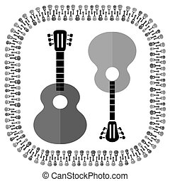 Guitars Silhouettes Isolated