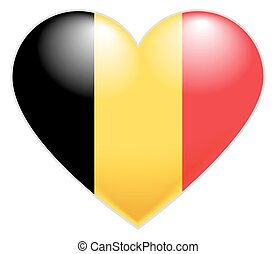 Belgium Flag Heart Belgian flag icon in shape of heart...