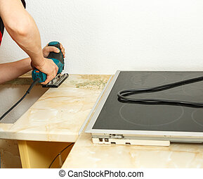 Installing new induction hob