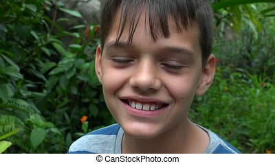 Smiling Teen Hispanic Boy