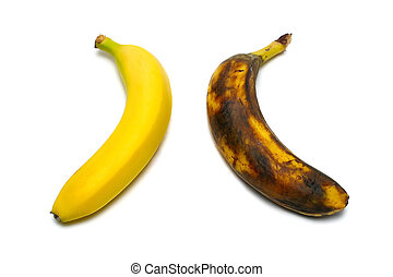2 bananas isolated on white