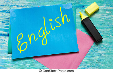 English words learning education concept lettering posters...