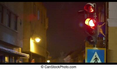 Cold Night Traffic Lights