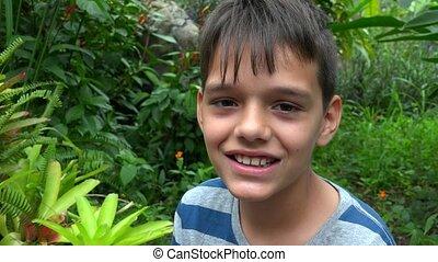 Hispanic Teen Boy Smiling