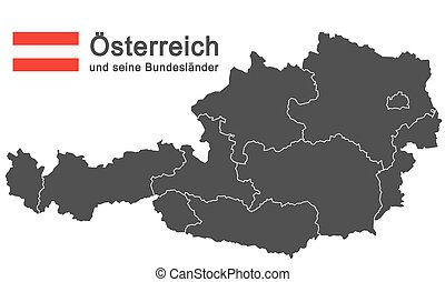 Austria and federal states - european country austria and...