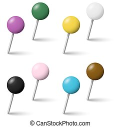 collection pin needles - collection of colored pin needles...