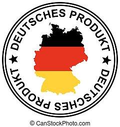 """Patch """" Deutsches Produkt """" - round patch """" Deutsches..."""