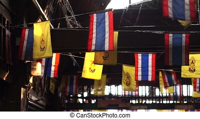 Thai national and Thai's King flags - Thai national flags...