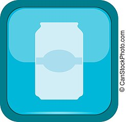 Cup icon on a blue button