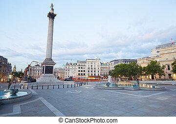 Empty Trafalgar Square, London - Empty Trafalgar square,...