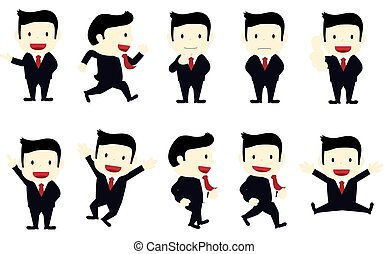 businessman with different poses - a set of businessmen with...