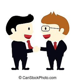 two businessmen shaking hands on an agreement