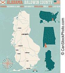 Baldwin County in Alabama USA