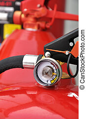 Pressure gauge of fire extinguisher - Manometer shut-off...