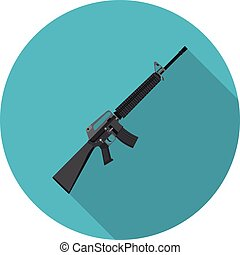 flat icon rifle m16 in vector format eps10