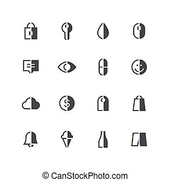 Symmetric half colored icons 3 - Symmetric vector half...