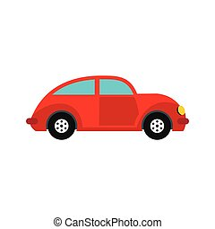 Car vintage car icon, flat style - Car vintage car icon in...