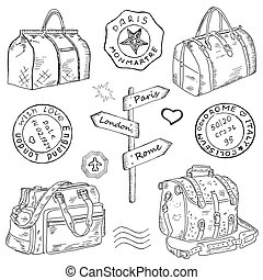 Travel bags different