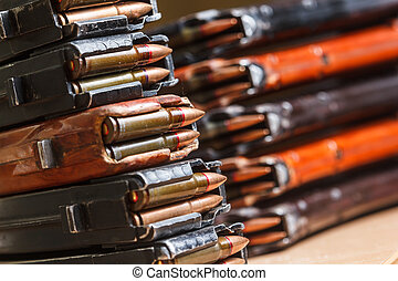 7.62 and 5.56 ammo for machine guns with loaded magazines...