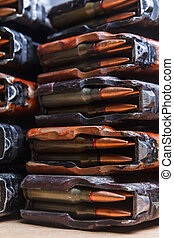5.56 ammo for machine guns with loaded magazines