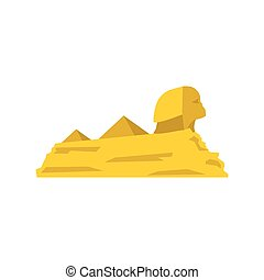 Sphinx icon, flat style - Sphinx icon in flat style isolated...