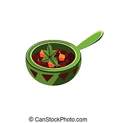 Traditional Mexican Soup Illustration