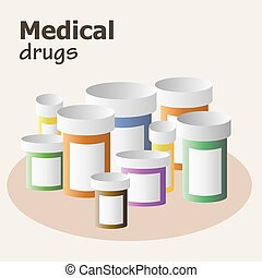 Container for pills and drugs