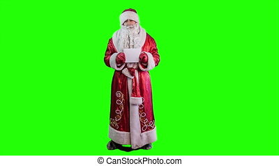 Santa Claus. Alpha channel green screen