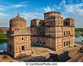 Royal cenotaphs of Orchha, India - Royal cenotaphs of Orchha...