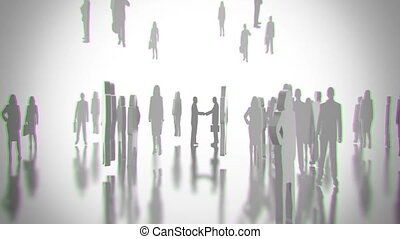 Partners in crowd CG - Partners in crowd animation model